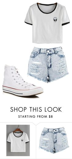 """Untitled #235"" by cruciangyul on Polyvore featuring WithChic, Boohoo and Converse"