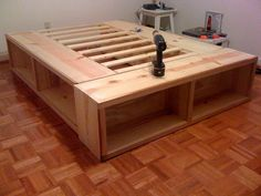 Storage Bed 1 - Knock-Off Wood