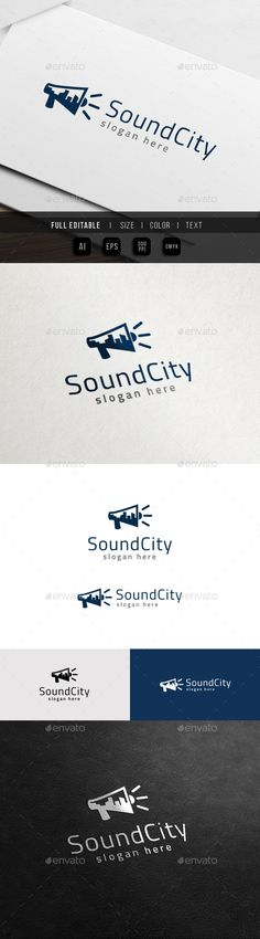 City Sound - Multimedia Production Logo Template #design #logotype Download: http://graphicriver.net/item/city-sound-multimedia-production-logo/11418200?ref=ksioks