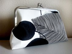 Black Leaves Clutch Bag by Lolis' Creations by loliscreations, $48.00