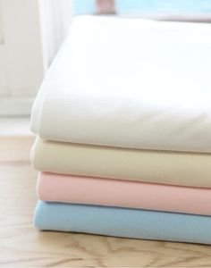 Organic Cotton Interlock Knit  White Natural Pink or by landofoh, $25.50