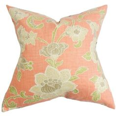 Shop for Duscha Floral Down and Feather Filled Throw Pillow with Hidden Zipper Closure 18-inch Pink. Get free shipping at Overstock.com - Your Online Home Decor Outlet Store! Get 5% in rewards with Club O!