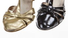 FRA GULL TIL SVART: KK.no prøvde å farge om et par skinnsko i gull til svart - resultatet ble ganske så bra, tross de litt slitne skoene.