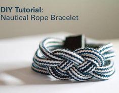DIY Tutorial: Nautical Rope Bracelet Haz una pulsera con nudo marinero paso a paso