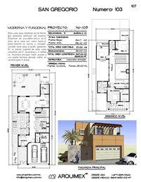 Arquimex planos de casas en mexico planos y dise os de for Modelos de casas en mexico