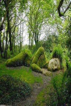 Sleeping Goddess ~ Lost Gardens of Heligan, England