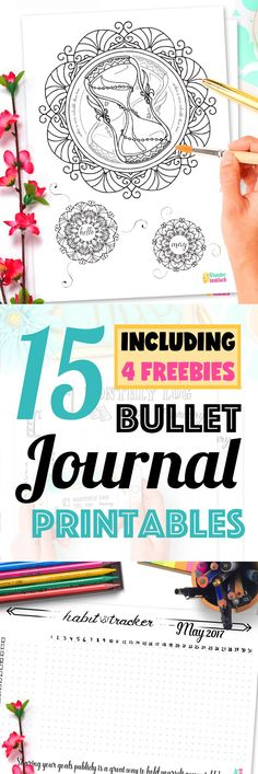 15 Pages Strong Bullet Journal Printable Kit • May 2017. Including Habit Tracker, Monthly Log and many more beautiful pages. // by Wundertastisch Design - Today I share my 15 Bullet Journal Printables May 2017 with you! It's the third month since I upped my free printable quality to the level of my Etsy Shop Products and I'm very thankful for all your sweet emails and purchases. You are wundertastisch!