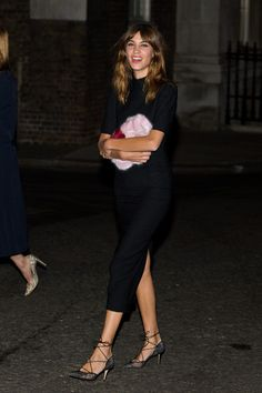 Alexa Chung attends the Downing Street reception hosted by Samantha Cameron during London Fashion Week Spring Summer 2015 on September 15, 2014 in London, England.