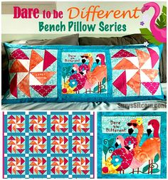 Block of the month- Winter Cardinal Bench Pillow Craft Projects For Adults, Diy Craft Projects, Craft Tutorials, Fun Crafts, Paper Crafts, Amazing Crafts, Simple Embroidery, Embroidery Stitches, Quilt Patterns Free
