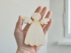 wooden LITTLE angel B unfinished wood unpainted door forCRAFT