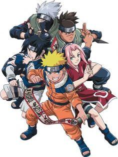 Naruto, Sasuke, Kakashi, Iruka and Sakura