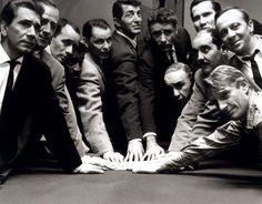 The Orginal Ocean's 11: Frank Sinatra, Dean Martin, Sammy Davis Jr., Peter Lawford, Richard Conte, Joey Bishop, Henry Silva, Buddy Lester, Richard Benedict, Norman Fell, and Clem Harvey