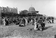 Magdalen Green Bandstand | Dundee City Archives | Flickr Dundee City, Historical Photos, Great Britain, Old Photos, Taj Mahal, Scotland, Dolores Park, Around The Worlds, England