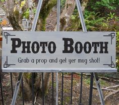 PHOTO BOOTH Sign Country Wedding  Barn Wedding Decor, Antiqued, Rustic on Etsy, $45.00