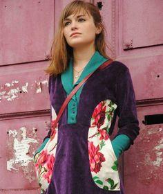 Vestido de plush. VIDALICIA INDUMENTARIA Sari, Style, Fashion, Vestidos, Saree, Swag, Moda, Stylus, La Mode