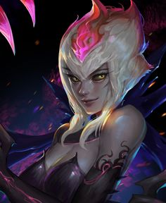 Evelynn by sheeplin HD Wallpaper Background Fan Art Artwork League of Legends lol Lol League Of Legends, Evelynn League Of Legends, League Of Legends Characters, Fantasy Images, Fantasy Art, Fantasy Characters, Anime Characters, Game Character, Character Design