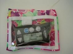 No Sew Pump Pocket Clear View Floral  Horizontal What a neat idea..