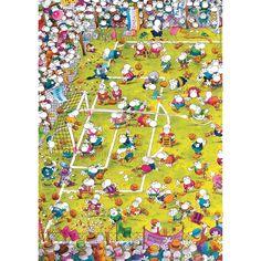 Crazy Football Mordillo - 1000 Piece Cartoon Triangular Puzzle by Heye (9091)