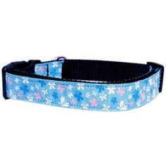 Butterfly Nylon Ribbon Collar Blue Sm This wide size small dog collar is made of durable nylon with a high quality ribbon overlay. It is adjustable to fit a neck size from Product Summary . Cute Dog Collars, Dog Collars & Leashes, Collar Designs, Blue Dog, Collar And Leash, Dog Supplies, Ribbon, Butterfly, Pets