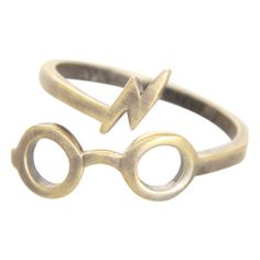 Harry Potter Glasses Ring | Hot Topic ($6.38) found on Polyvore