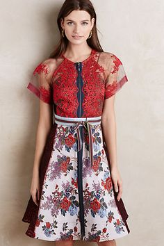 Winter Rose Dress #anthropologie