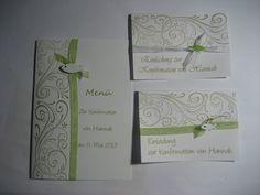 Einladung Einladungskarte Kommunion Konfirmation E von SiSa-Shop-de auf DaWanda.com