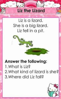English reading passages with CVC and Dolch Sight words for beginning readers. It contains comprehension questions for comprehension check. 1st Grade Reading Worksheets, First Grade Reading Comprehension, Grade 1 Reading, Kindergarten Reading Activities, Phonics Reading, Reading Comprehension Worksheets, Reading Passages, Teaching Reading, Phonics Activities