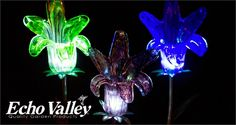 Echo Valley's products light up your yard at night!