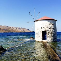 Old windmill on the coast in Greece. Photo courtesy of denaoc on Instagram. #traveltuesday http://www.yourcruisesource.com/two_chefs_culinary_cruise_-_istanbul_to_athens_greek_isles_cruise.htm