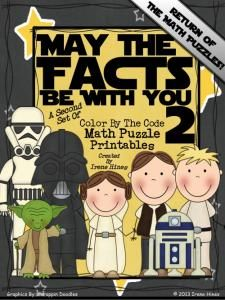 May The Facts Be With You 2 ~2nd Set Of Color By The Code Math Puzzle Printables-Hurry up! This giveaway promotion ends at 11:59:59PM CST on 07-18-2013