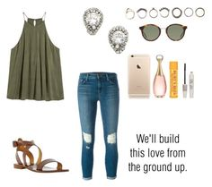 """""""Untitled #974"""" by alyssakate96 on Polyvore featuring J Brand, Iosselliani, Yves Saint Laurent, Christian Dior, Burt's Bees, Topshop and Dune"""