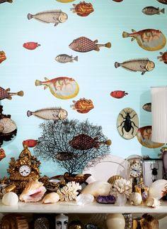 Acquario Fornasetti Designtapete Von Cole And Son Fisch Englisch Klassisch Fornasetti Tapete Tapeten Design Tapeten
