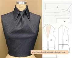 Plantillas de moda para medirla ('Shingo Sato' Dart Manipulation into a Tie) fro. Diy Clothing, Sewing Clothes, Clothing Patterns, Dress Patterns, Sewing Patterns, Fashion Sewing, Diy Fashion, Ideias Fashion, Fashion Ideas