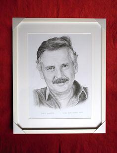 Juraj Slezáček, portrét v ráme. Dušan Dudo Hanes
