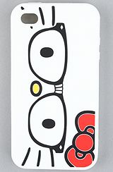 Hello Kitty Nerd Silicone Case for iPhone 4 @Katie Wilkins this one is for you:)