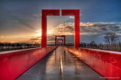 The Red Gateway/Cergy-Pontoise/Winter10'11 by Frédéric Bertrand, via Flickr