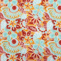 Jonesy Jungle Aqua Cotton Jersey Knit Fabric