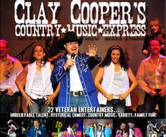 Clay Cooper's Country Music Express, an extraordinary bass player at the young age of sixteen, the Clay Cooper prodigy has been performing in Branson for over 20 years and now has his own show.