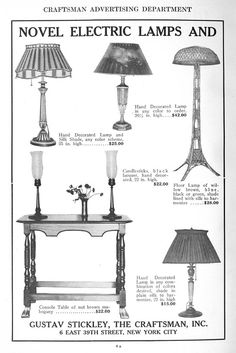 Electric Lamp Ad from Craftsman Magazine, October 1915.