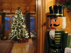 The Lodge Great Room  #ChristmasCabins #LodgeChristmasTree #Nutcracker #CampSherman,Oregon #LakeCreekLodge www.lakecreeklodge.com