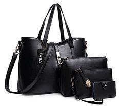 0aabfafcfa Tibes PU cuir sac à main + épaule de sac de femmes de la mode +  porte-monnaie + carte 4pcs mis: Amazon.fr: Chaussures et Sacs