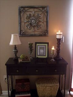 living room sofa and loveseat sets Hallway Decorating, Entryway Decor, Entryway Tables, Hall Tables, Entrance Table, Entryway Ideas, Sofa Tables, Console Table, Diy Home Decor On A Budget
