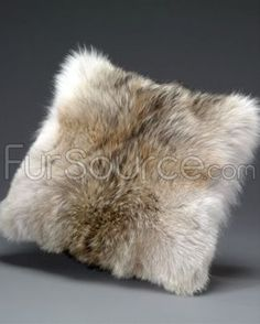 Coyote fur pillow. Perfect for winter!