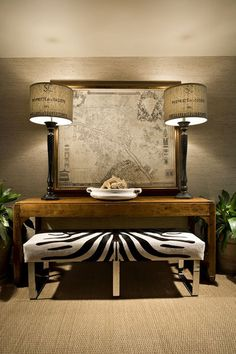 Family room - texture with grasscloth, sisal, wood, burlap, animal print