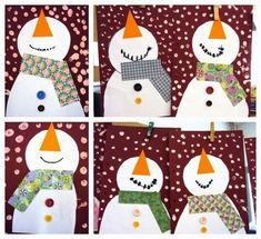 Tapa muñecos de nieve con perspectiva. Portada escolar navideña para niños
