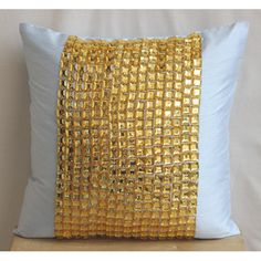 Designer Light Blue Throw Pillows Cover For by TheHomeCentric