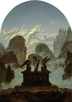 Monument to Goethe by Caspar David Friedrich