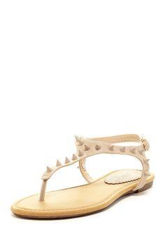 Elegant Footwear Loky-1 Spiked Thong Sandal by Slide Into Sandals on @HauteLook