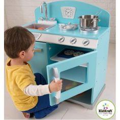 Superbe cuisine en bois bleu ! Parfait pour Noël ! http://www.bebegavroche.com/cuisine-en-bois-jouet-kidkraft-bleu.html