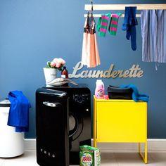 Colourful utility room